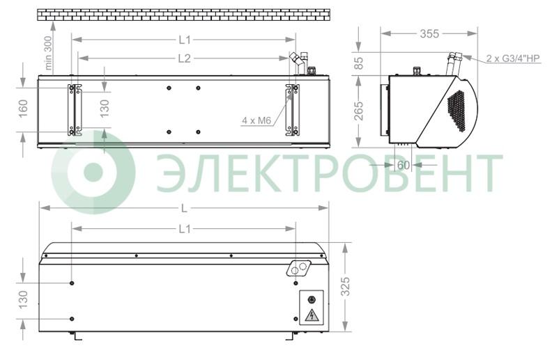 Габаритные размеры КЭВ-18П3041E
